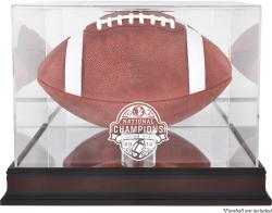 Florida State Seminoles (FSU) 2013 BCS National Champions Mahogany Base Football Display Case with Mirror Back - Mounted Memories
