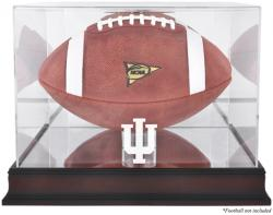 Indiana Hoosiers Mahogany Base Logo Football Display Case with Mirror Back - Mounted Memories
