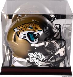 Jacksonville Jaguars Mahogany Helmet Display Case with Mirror Back