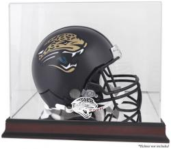 Jacksonville Jaguars Mahogany Helmet Logo Display Case with Mirror Back - Mounted Memories