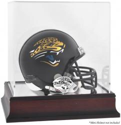 Jacksonville Jaguars Mahogany Logo Mini Helmet Display Case - Mounted Memories