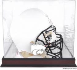 Kansas State Wildcats Mahogany Base Logo Helmet Display Case with Mirrored Back