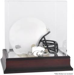 Kansas State Wildcats Mahogany Logo Mini Helmet Display Case with Mirror Back