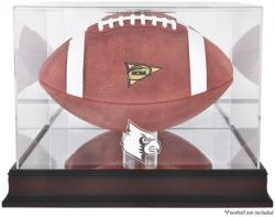 Louisville Cardinals Mahogany Base Logo Football Display Case with Mirror Back