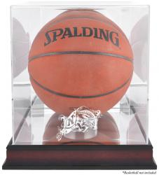 Navy Midshipmen Mahogany Antique Finish Basketball Display Case with Mirror Back - Mounted Memories