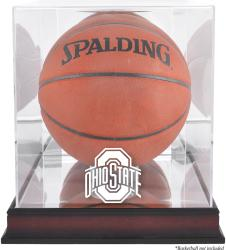 Ohio State Buckeyes Mahogany Basketball Display Case with Mirror Back - Mounted Memories