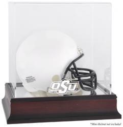 Oklahoma State Cowboys Mahogany Logo Mini Helmet Display Case with Mirror Back