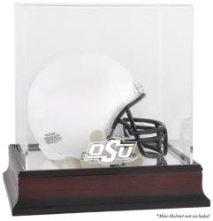 Oklahoma State Cowboys Mahogany Logo Mini Helmet Display Case with Mirror Back