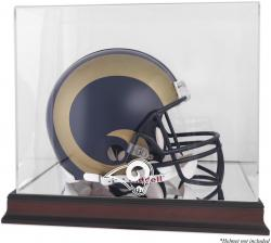St. Louis Rams Mahogany Helmet Logo Display Case with Mirror Back