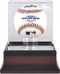 Boston Red Sox 2013 MLB World Series Champions Mahogany Baseball Display Case - Mounted Memories