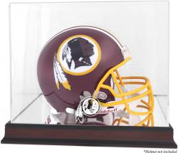 Washington Redskins Mahogany Helmet Logo Display Case with Mirror Back
