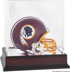 Washington Redskins Mahogany Logo Mini Helmet Display Case