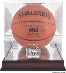 Philadelphia 76ers Mahogany Team Logo Basketball Display Case with Mirrored Back