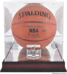 San Antonio Spurs 2014 NBA Finals Champions Mahogany Basketball Display Case - Mounted Memories