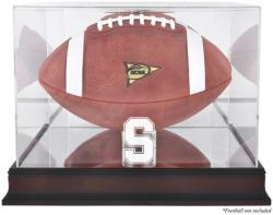 Stanford Cardinal Mahogany Base Logo Football Display Case with Mirror Back