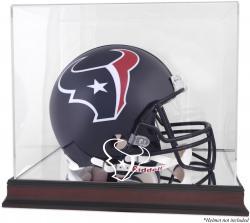 Houston Texans Mahogany Helmet Logo Display Case with Mirror Back