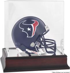 Houston Texans Mahogany Logo Mini Helmet Display Case - Mounted Memories