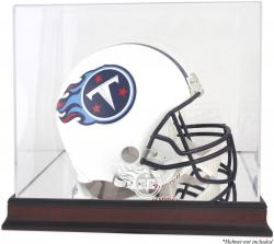 Tennessee Titans Mahogany Helmet Logo Display Case with Mirror Back