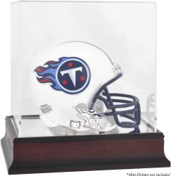 Tennessee Titans Mahogany Logo Mini Helmet Display Case - Mounted Memories