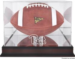 Pittsburgh Panthers Mahogany Base Logo Football Case with Mirror Back