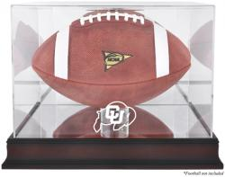 Colorado Buffaloes Mahogany Base Logo Football Display Case with Mirror Back