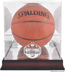 UConn Huskies 2014 Men's NCAA Basketball National Champions Antique Mahogany Finish Basketball Display Case with Mirror Back