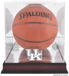 Kentucky Wildcats Mahogany Basketball Display Case with Mirror Back - Mounted Memories
