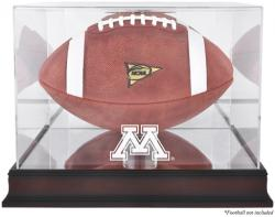Minnesota Golden Gophers Mahogany Base Logo Football Display Case with Mirror Back - Mounted Memories