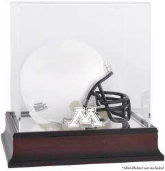 Minnesota Golden Gophers Mahogany Logo Mini Helmet Display Case with Mirror Back