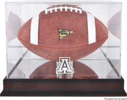 Arizona Wildcats Mahogany Base Logo Football Case with Mirror Back