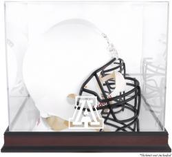 Arizona Wildcats Mahogany Base Team Logo Helmet Display Case with Mirrored Back