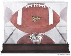 Florida Gators Mahogany Base Logo Football Display Case with Mirror Back
