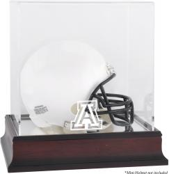 Arizona Wildcats Mahogany Logo Mini Helmet Display Case with Mirror Back