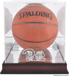 Pittsburgh Panthers Mahogany Antique Finish Basketball Display Case with Mirror Back - Mounted Memories