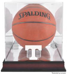 Tennessee Volunteers Mahogany Antique Finish Basketball Display Case with Mirror Back - Mounted Memories