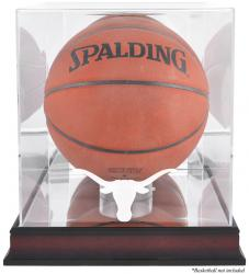 Texas Longhorns Mahogany Antique Finish Basketball Display Case with Mirror Back - Mounted Memories