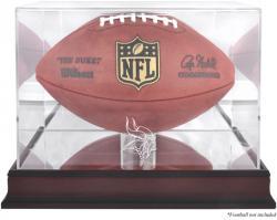Minnesota Vikings Mahogany Football Logo Display Case with Mirror Back
