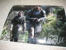 Maisie Williams Arya Stark Game of Thrones Signed 11X14 Photo Winter Is Coming