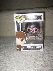 Maisie Williams Arya Stark Game of Thrones Signed Funko Pop Figure Exact Proof