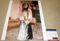 Maisie Williams Signed 11x14 Game of Thrones Arya Stark Stick 'em line PSA/DNA