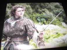 MAISIE WILLIAMS SIGNED AUTOGRAPH 8x10 PHOTO GAME OF THRONES PHOTO COA AUTO RARE