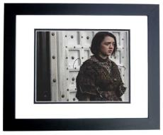 Maisie Williams Signed - Autographed Game of Thrones 8x10 inch Photo BLACK CUSTOM FRAME - Guaranteed to pass PSA or JSA - Arya Stark