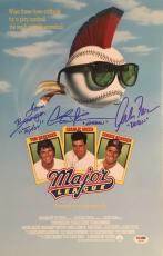 Major League Autographed 11x17 Signed Baseball Movie Poster Sheen PSA DNA COA 1