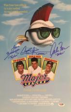 Major League Autographed 11x17 Signed Baseball Movie Poster Sheen PSA DNA COA 1 Photo