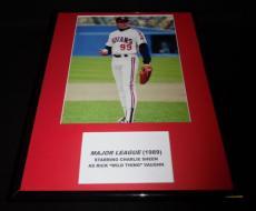 Major League Charlie Sheen Rick Wild Thing Vaughn Framed 11x14 Photo Display