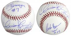 Major League Charlie Sheen, Tom Berenger, Corbin Bernsen Signed OML Baseball BAS