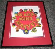 Make Mine Marvel Framed 8x10 Photo Spiderman Hulk Avengers Daredevil