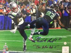 Malcom Butler signed The Butler Did it 8x10 SB XLIX photo Steiner coa autograph