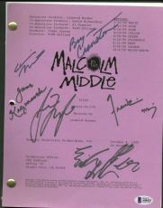 Malcolm In The Middle Signed Autographed Pilot Script Cranston Muniz Beckett BAS