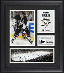 "Evgeni Malkin Pittsburgh Penguins Framed 15"" x 17"" Collage with Game-Used Puck-Limited Edition of 500"